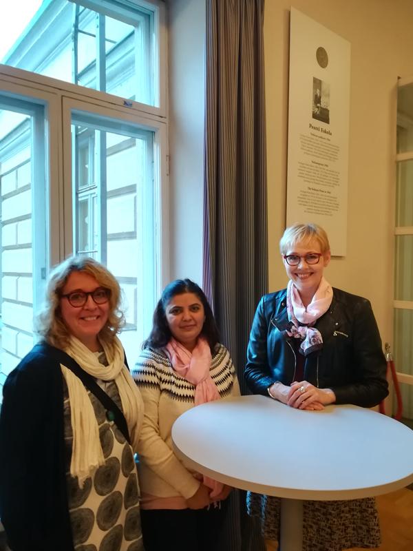 Ms Priya Malhotra with HY+ staff