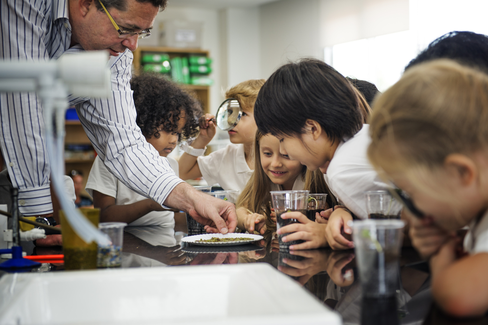 Children in a science class